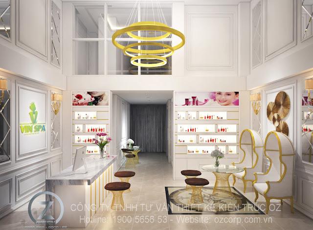 Ánh sáng trong thiết kế nội thất spa