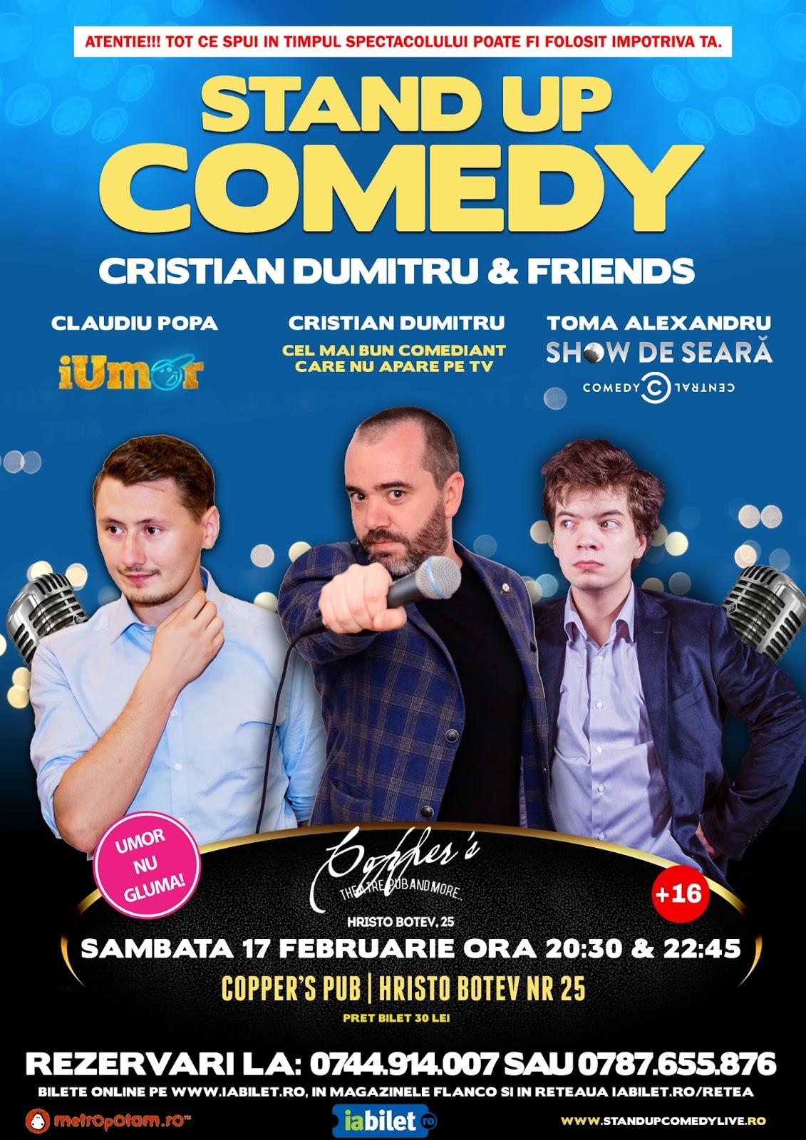 Stand-Up Comedy Sambata 17 februarie Bucuresti