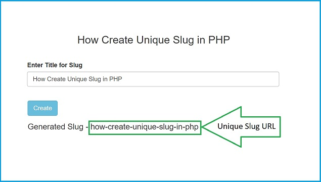 How to Create Unique URL Slug in PHP | Webslesson