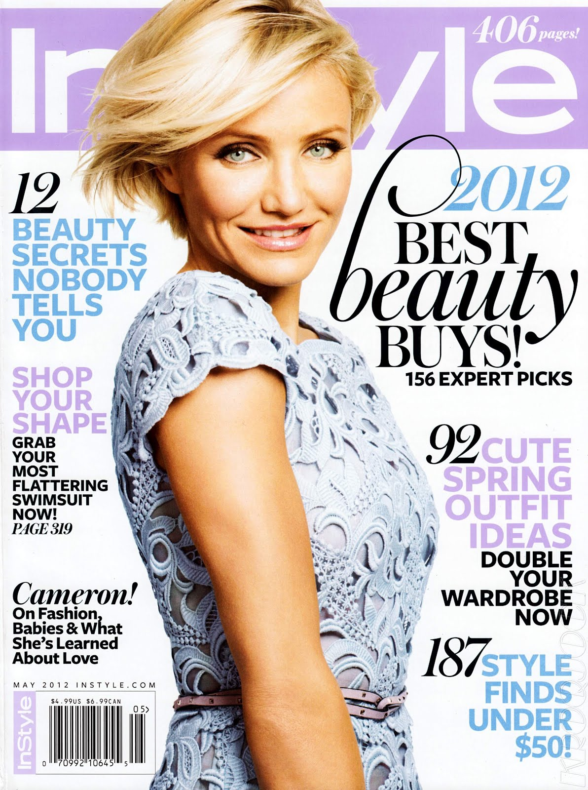 Instyle Magazine Us: Cameron Diaz: May 2012 InStyle Magazine Photoshoot