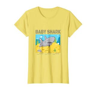Baby Shark Doo Doo Doo Graphic Lemon or Orange Shirt kid