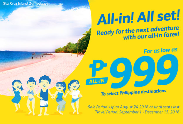 All-In Promo Fare 2016