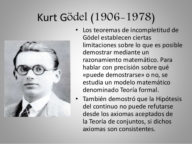 Resultado de imagen de El Teorema de Gödel
