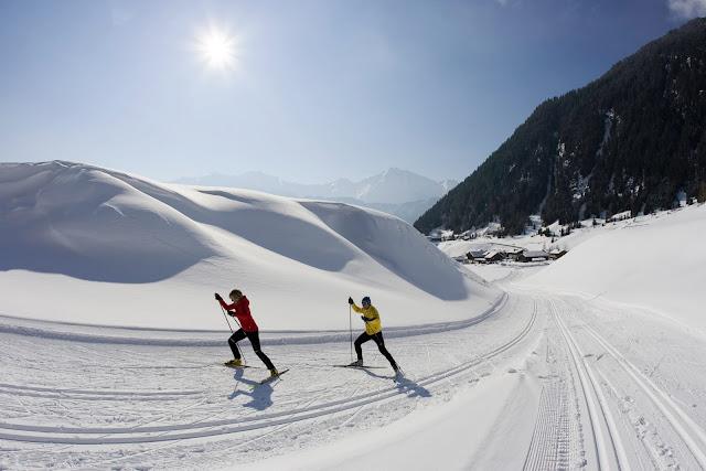 Langlaufen, nur eine der vielen Wintersportaktivitaten am Bauernhof