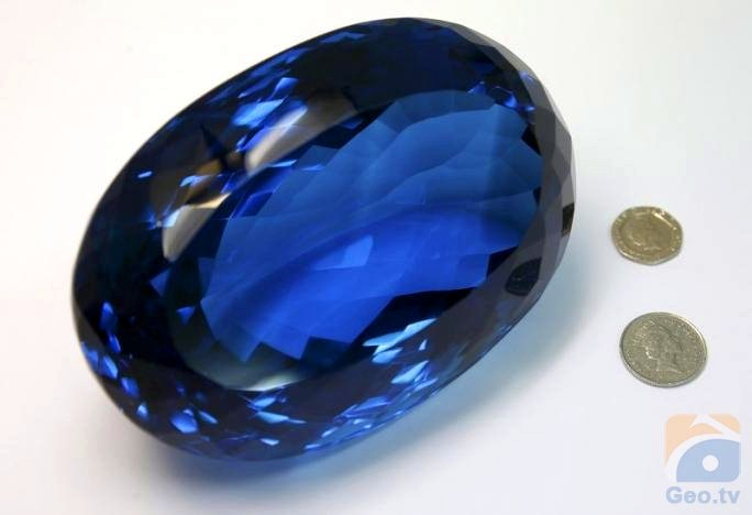 blue by goes discovered topaz explorer on s largest watch world the public display british gemstone