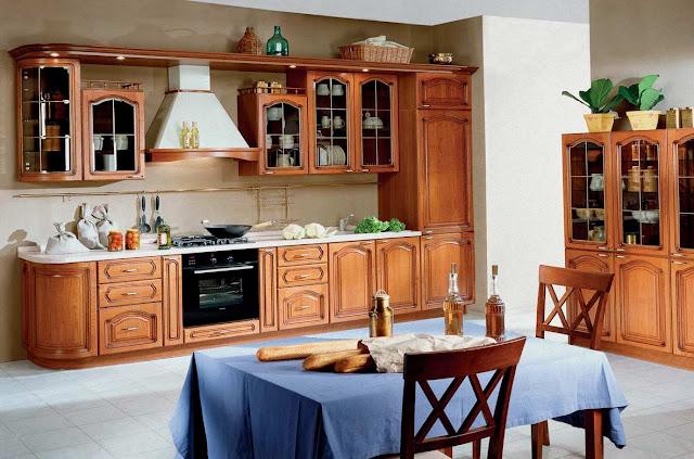 Thiết kế tủ bếp gỗ đẹp - Mẫu số 1
