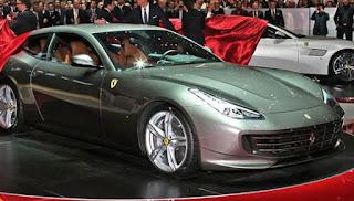 Ferrari GTC4 Lusso at the show room