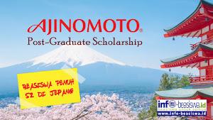 Beasiswa Penuh S2 di Jepang: Ajinomoto Post Graduate Scholarship