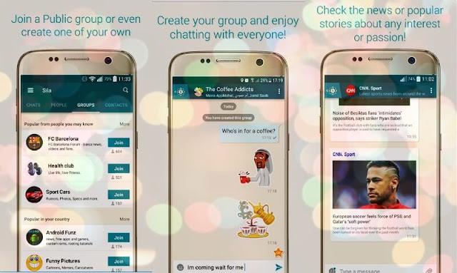 التطبيق العربي Sila شبيه الواتساب بمميزات رائعة