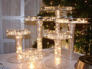 Epic Lighted Wedding Cake Stands