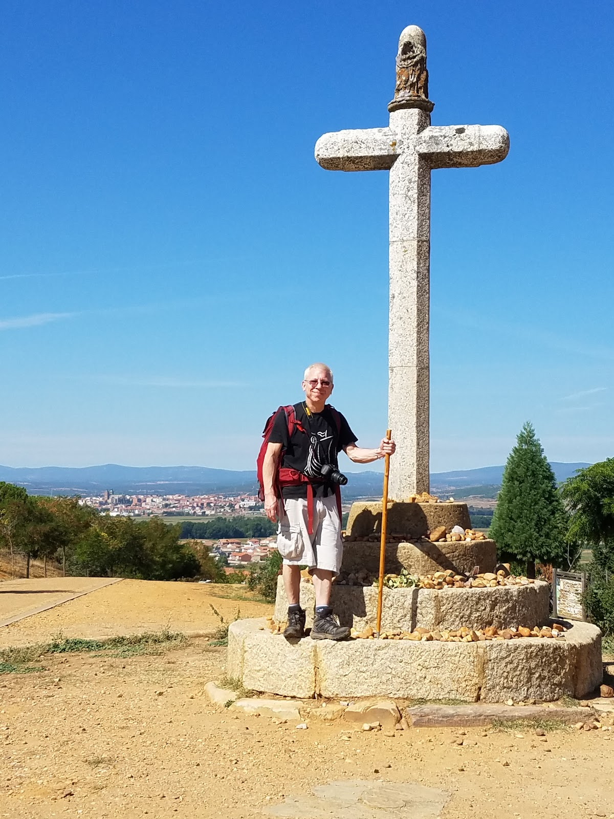 Cruceiro Santo Toribio or Cross of Saint Toribio commemorates the location where the fifth-century Bishop Toribio of Astorga fell to his knees in a final farewell after having been banished from the village.