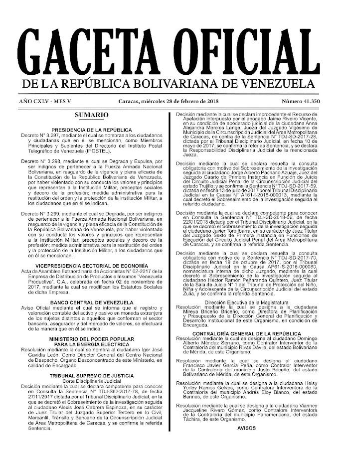 El Aumento del Salario - GACETA OFICIAL 41.351