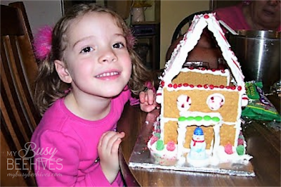 Graham Cracker Christmas house.