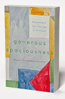 "cover of ""generous spaciousness: responding to gay Christians in the church"" by wendy gritter"
