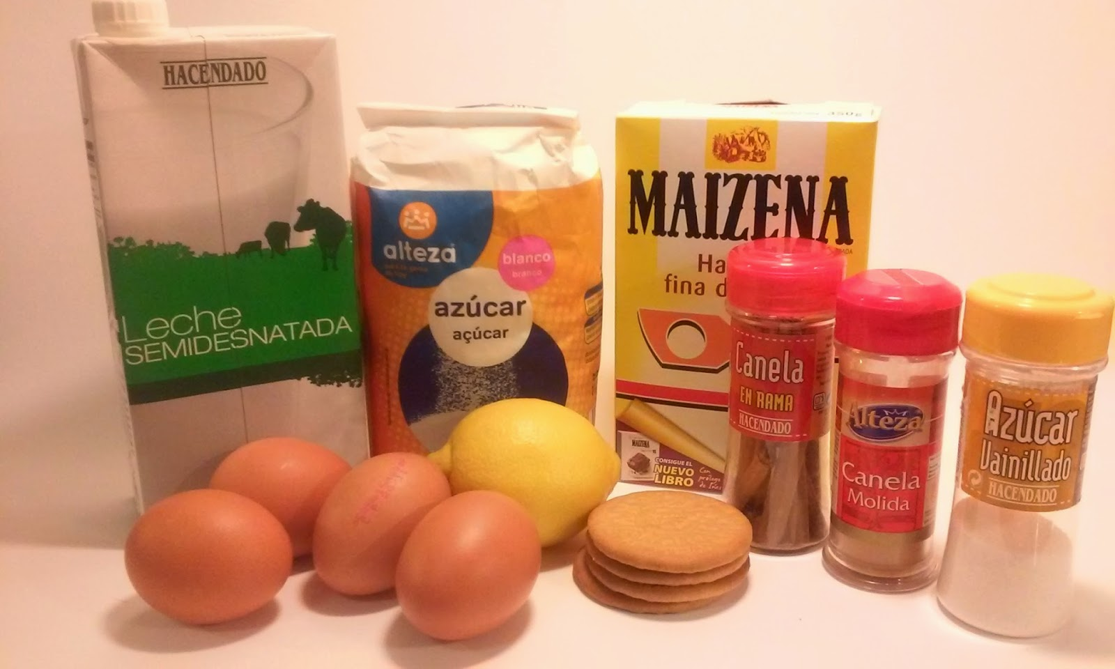 ingredientes natillas caseras