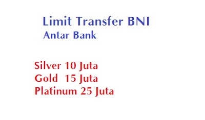 Limit transfer bni antar bank