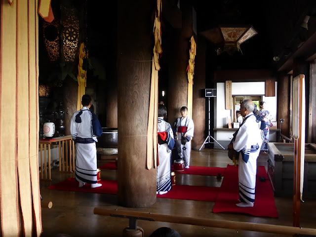 Ceremonia en el templo Kiyomizudera