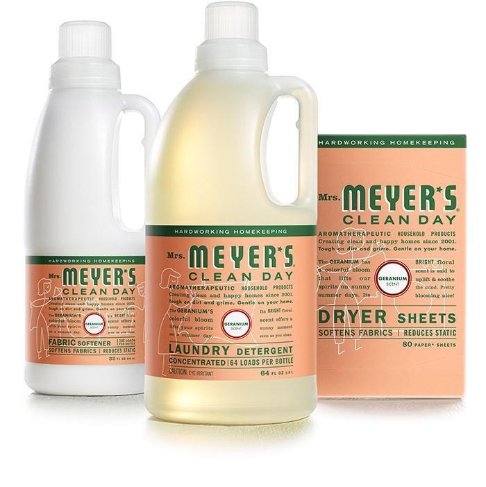 Mrs meyers baby blossom detergent flood redwood stain