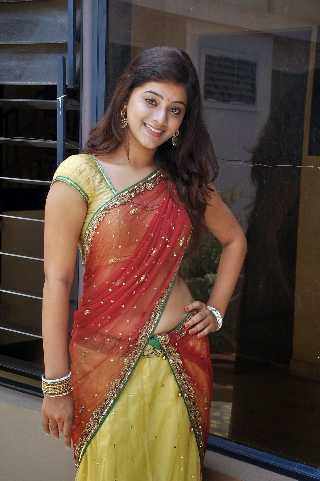 Saree Navel: Yamini Bhaskar Navel Show Stills In Half Saree