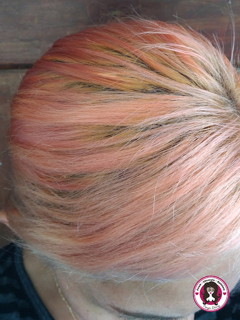After Bleach Bathing Purple Dye Out of Hair