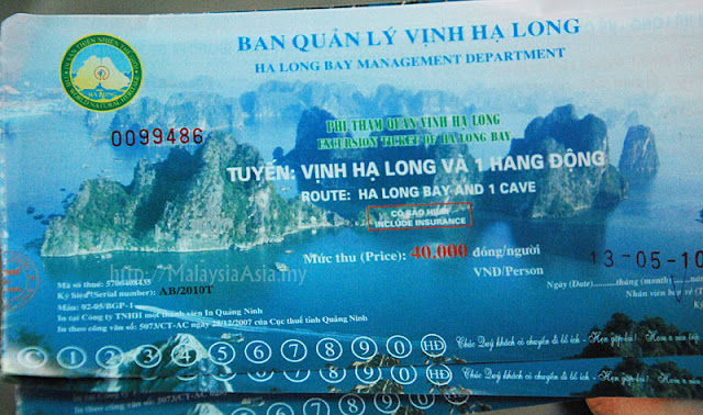 Halong Bay Boat Ticket