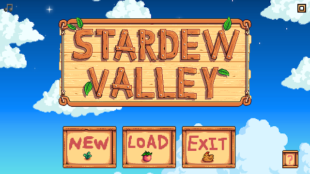 Stardew Valley title screen