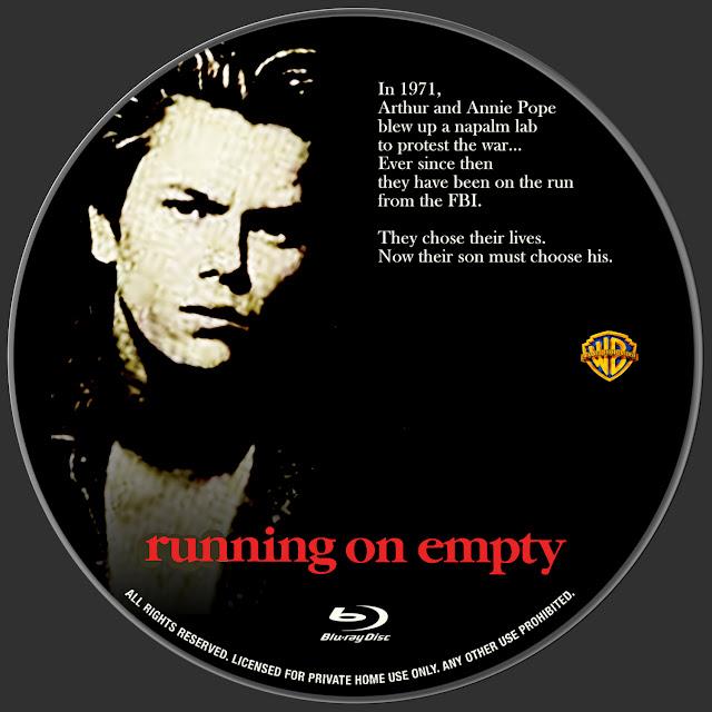 Running On Empty Bluray Label