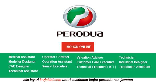Iklan jawatan kosong Perodua 2019