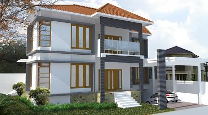 jasa desain rumah tinggal yang mewah, unik, menarik dan