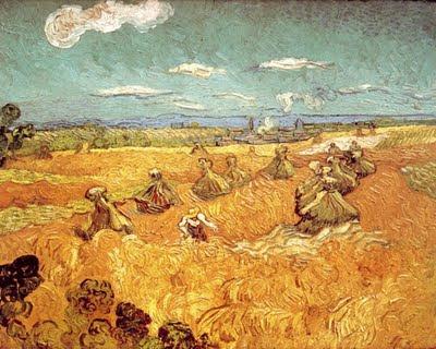 אלומות חיטה עם קוצר - ואן גוך - מוזיאון טולדו לאומנות 1888