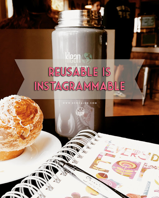 Show off reusable products instead of single-use in social media photos!