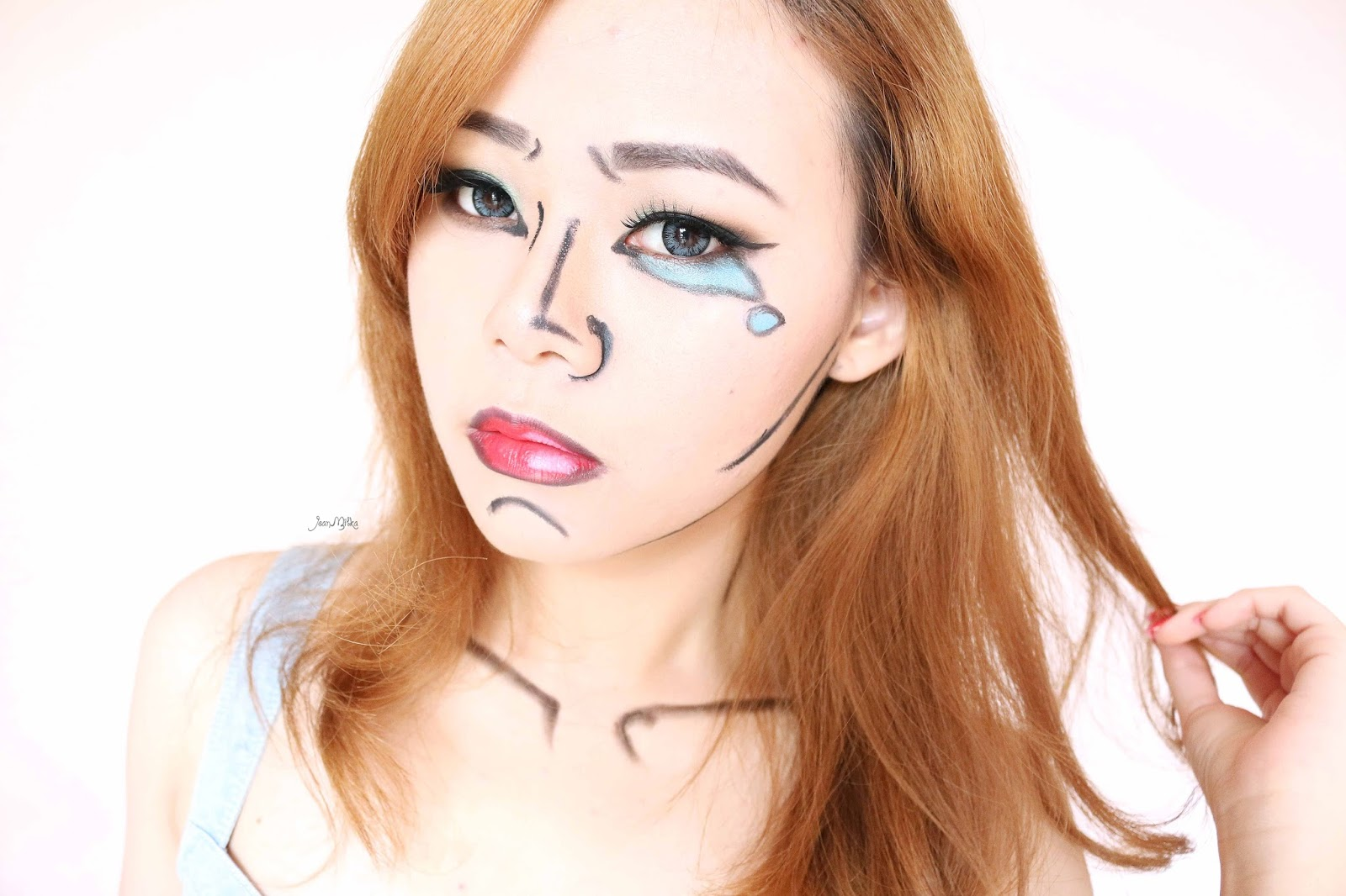 youtube, beauty, halloween, halloween makeup, pop art makeup, makeup, easy halloween makeup, halloween ideas, pop art, makeup tutorial, youtube, video, indonesia, blog