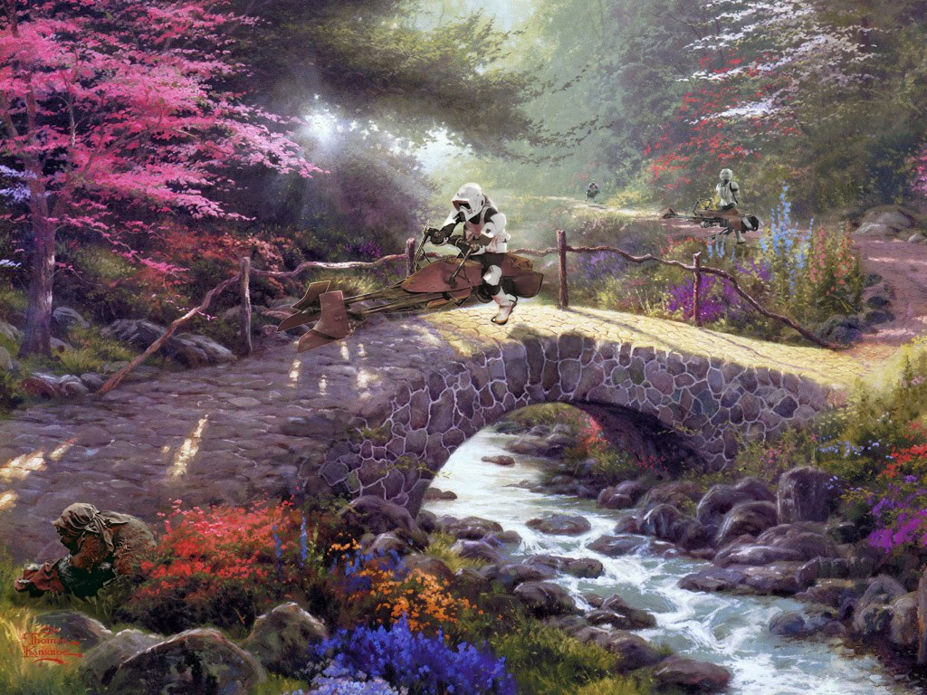 07-Jeff-Bennett-Thomas-Kinkade-Star-Wars-on-Kinkade-Paintings-www-designstack-co