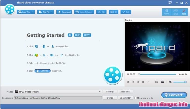 Tipard Video Converter Ultimate 9.2.36 Full Cr@ck – Phần mềm đổi đuôi Video Audio chuyên nghiệp