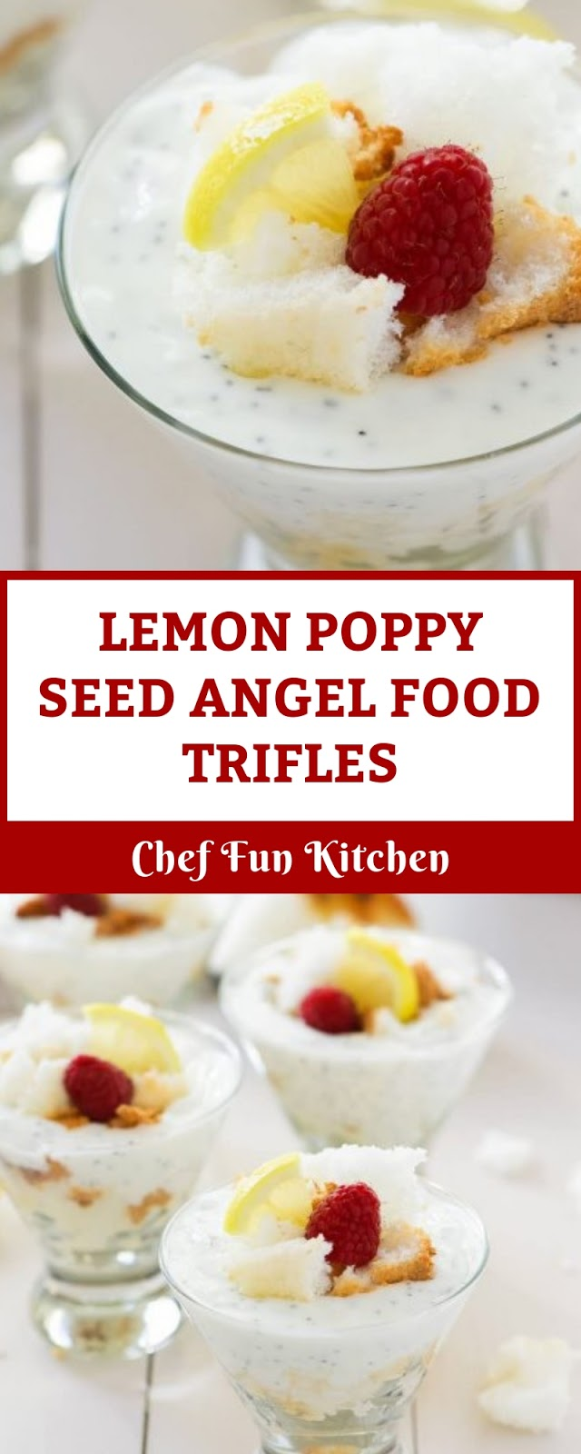 LEMON POPPY SEED ANGEL FOOD TRIFLES