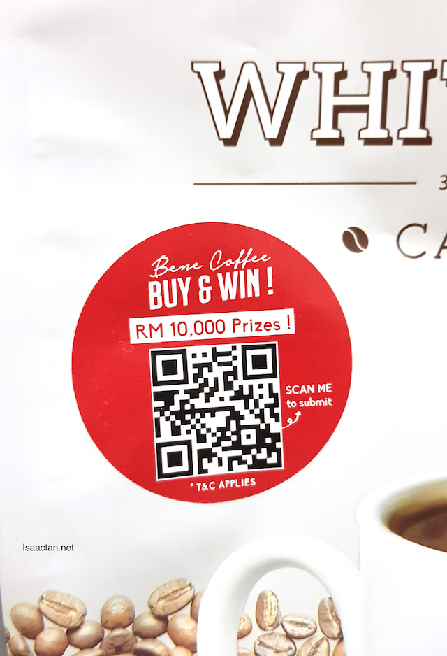 Scan the QR Code on the packaging and join the contest today!