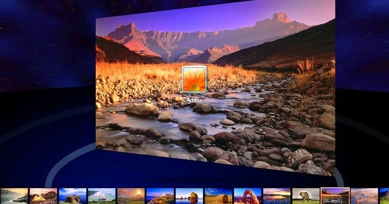 Mengganti tampilan wallpaper logon screen dari windows 7 - Windows 7 wallpaper changer software ...