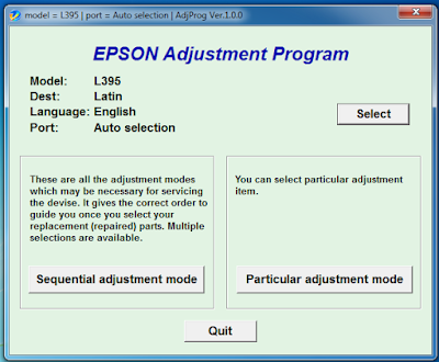 Epson l395 Resetter , L395 Service Required