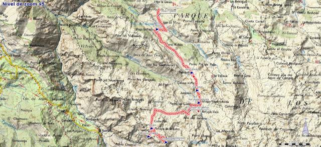 Mapa ruta Mirador de Ordiales y Pico Cotalba
