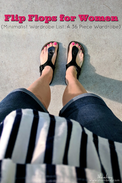 Flip Flops for Women (Minimalist Wardrobe List: A 36 Piece Wardrobe)