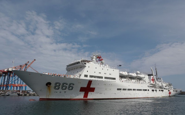 Buque Hospital Chino llegó cargado con un lote de armas de guerra escondidas