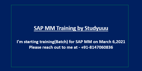 SAP MM - Training