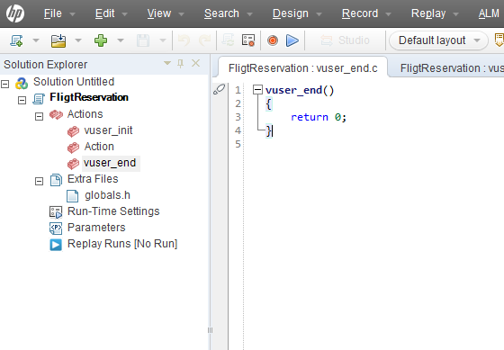 Web service script validating load runner