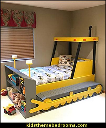 Bulldozer Bed Plans  kids theme beds - childrens theme beds - themed beds - kids beds - themed toddler beds - unique furniture - castle loft beds - castle beds - animal beds - car beds - boat beds - train bed - airplane bed - batman bed - princess beds -  fantasy beds - playroom beds -