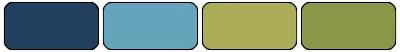 Bleu nuit, Murmure marin, Riche raison, Vert olive Stampin' Up!