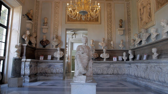 Hall of the Emperors at the Capitoline Museums in Rome restored