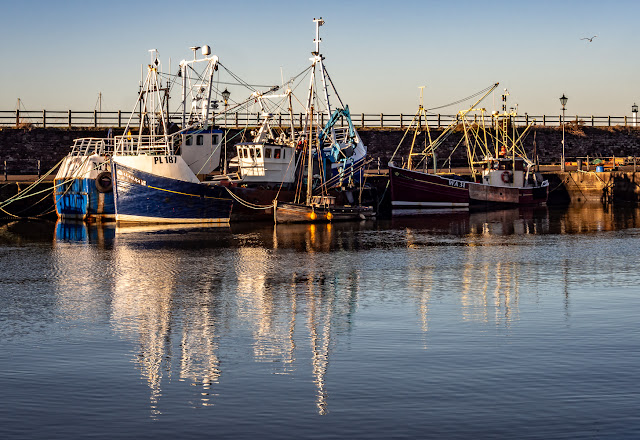 Photo of sunshine in Maryport Harbour on Christmas Eve