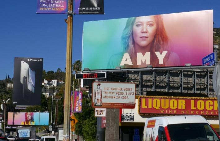Ally Amy Netflix spoof billboards Sunset Strip