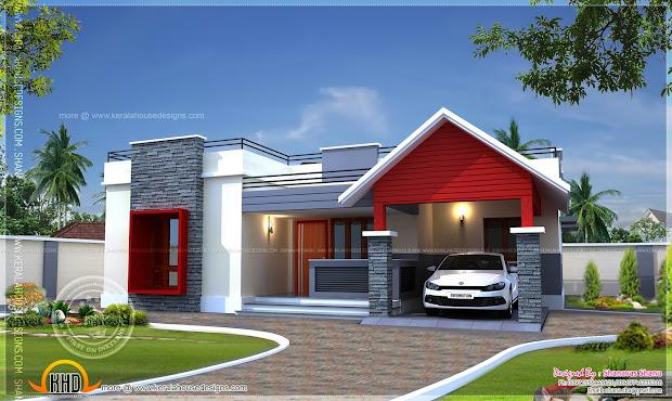 Single Floor Home Plan In 1400 Square Feet - Kerala
