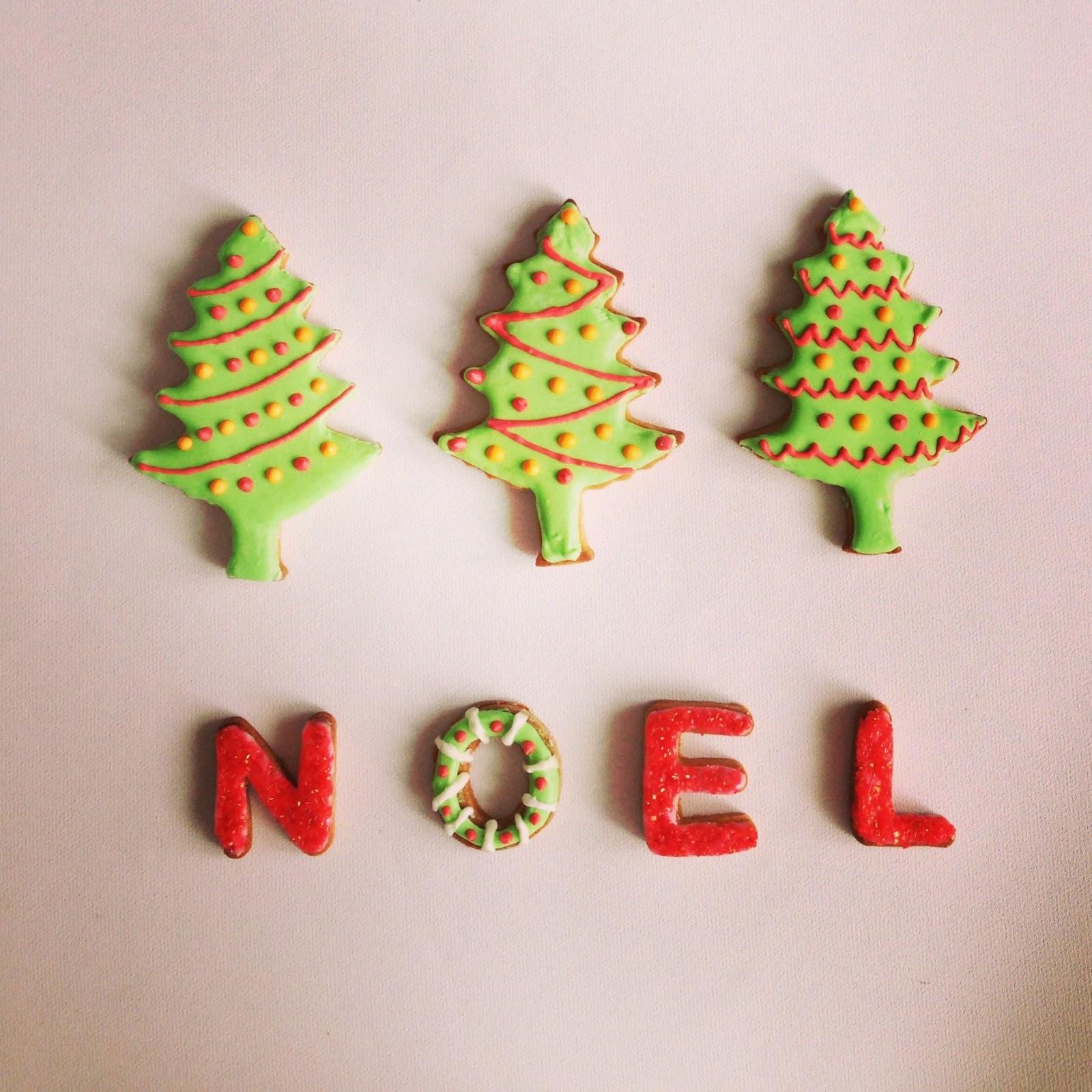 Homemade Gingerbread christmas tree cookies